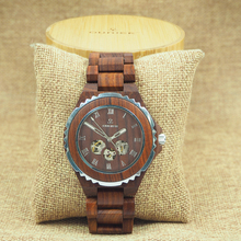 Men's branded luxury wrist watch automatic mechanical wood watch latest style wrist watches