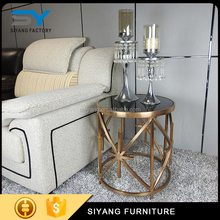 Classical style home furniture small gold side table JJ014