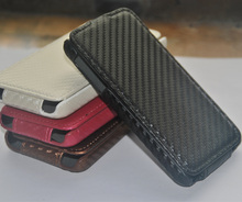 Wholesale phone case Flip Carbon fiber leather case cover for samsung galaxy fame s6810