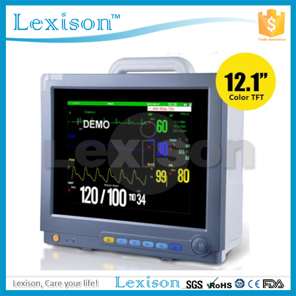 "12.1"" TFT LCD Screen Cardiac Multi-parameter Patient Monitor Price with 8 waveforms"