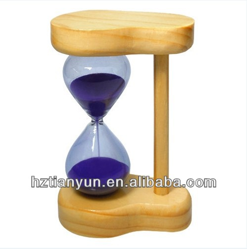 wooden kids sand timer & hourglass