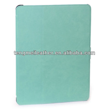 Shiny baby blue Leather with Stand Wallet Strap Case For Ipad5/Air,Cover Cases For ipad 5/Air