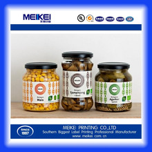 High Quality Custom Canned Food Label Stickers Roll Packaging Labels