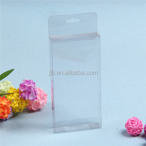 Eco pvc pet clear plastic retail packaging with hanger
