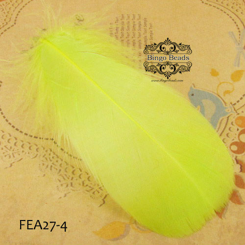 Wholesale Goose Feather Yellow Fit Decoration