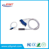 High Quality China plc Mini type steel tube optical fiber PLC splitters in fiber optical equipment