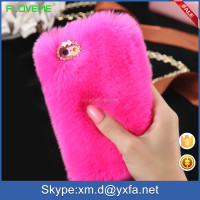 7 colors wholesale Cozy real furwholesale rabbit fur phone case for IPhone 5s 4s 6 for girl