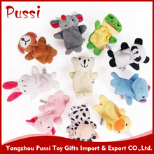 New design funny animal plush finger puppet customized toys