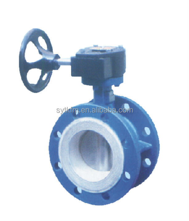 2016 hot selling gear operated grooved manual plastic solenoid butterfly valve with ce certificate