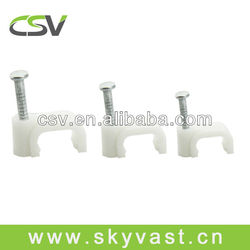 Nail economical flat cable clips