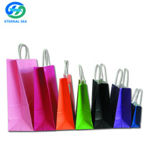 paper gift bag with handle and logo printing