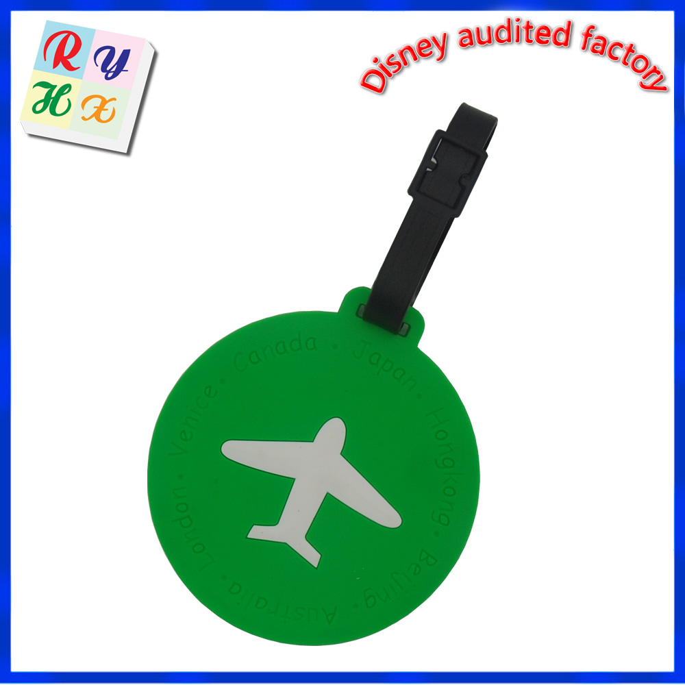 Professional factory customized personalized airline luggage tag, manufacturer supply airplane shaped travel luggage tag