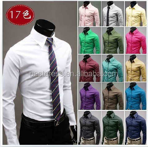 Latest Wholesale checkout fancy Design Dress Shirt tailored slim fit trendy man's shirts men clothing formal shirts