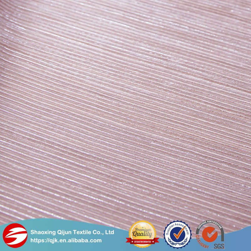 Shiny pure color elegant fabric knit pleated fabric textile Crinkle 100% <strong>polyester</strong> for all lady accessories