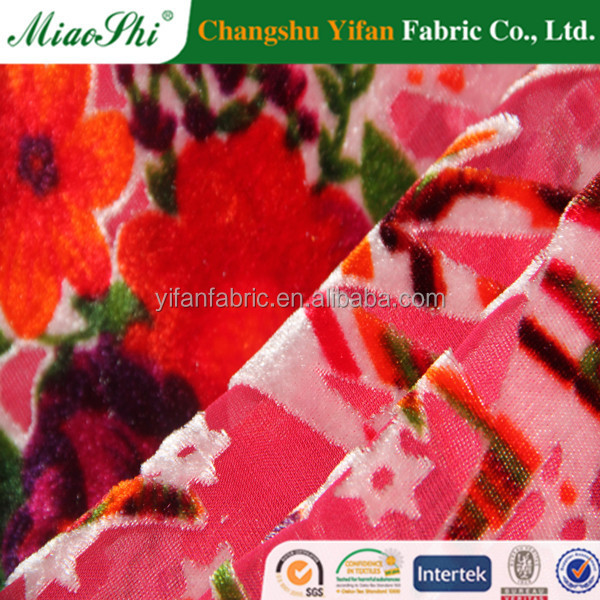 high quality bright color viscose rayon printed fabric for garment