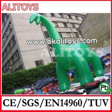 Alitoys inflatable giant dinosaur model, inflatable model with logo, custom sizem custom color