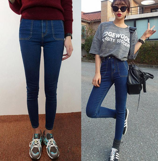 New arrival fashion hotsale china factory fashion cheap ladies long skinny women jeans