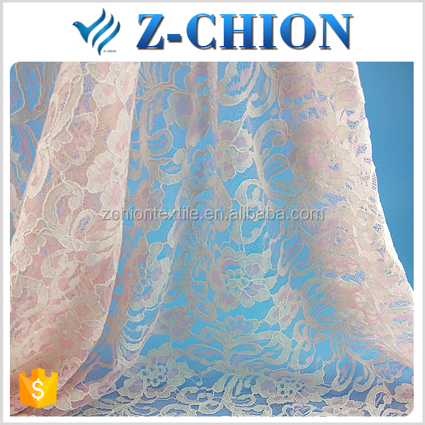 Best design nylon cotton rayon korean lace fabric baby george lace fabric