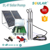 Stainless Steel 316 Solar Water Pump (1.8cbm/hr-80m-210watt)