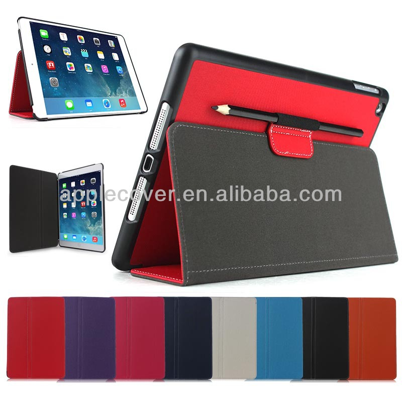 Stiching Cover for iPad Air with Pen Slot