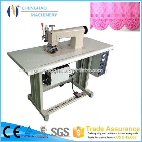 Ultrasonic Clothing lace suture embossing machine