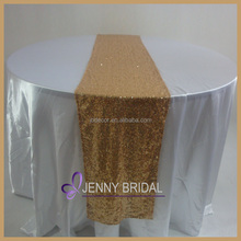 TR064#3 fancy cheap gold sequin wedding table runner