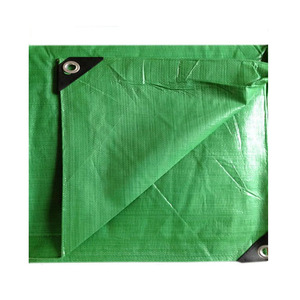 Green 4mx6m Durable Waterproof Poly Tarp For Truck
