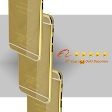 Luxury gold housing for iphone 6 plus 24k karat carat gold housing