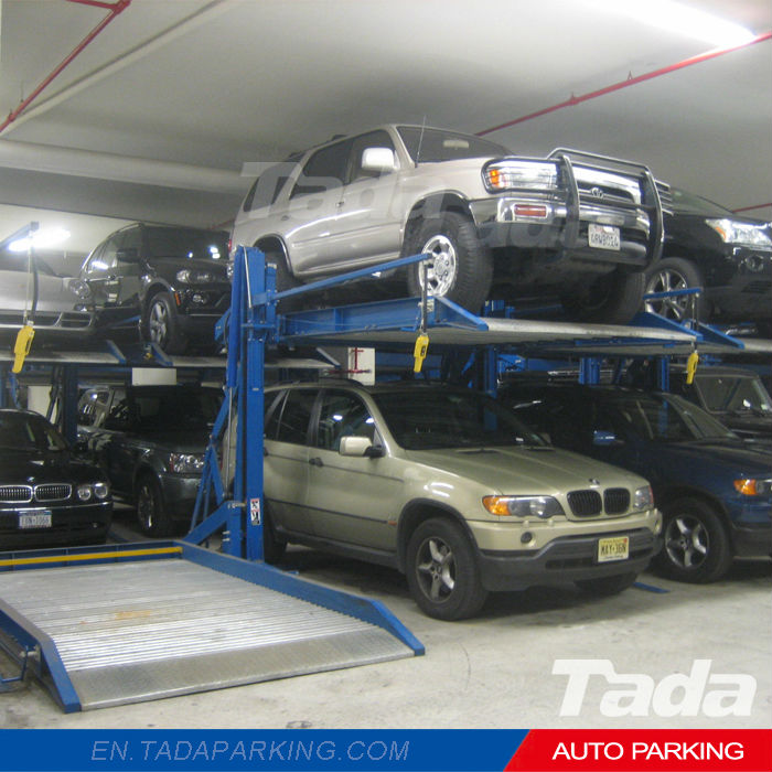 PJS Parking Lift Type Double Deck Parking/Car Lifts for Home Garages/Residential Pit Garage Parking Car Lift