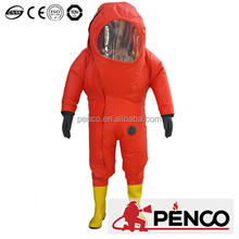 airtight chemical protective garment clothes safe products coverall overcoat CE bubber prevent chemical pollution