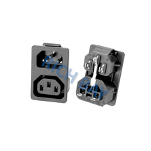 AC power plugs and sockets with IEC C14+C13