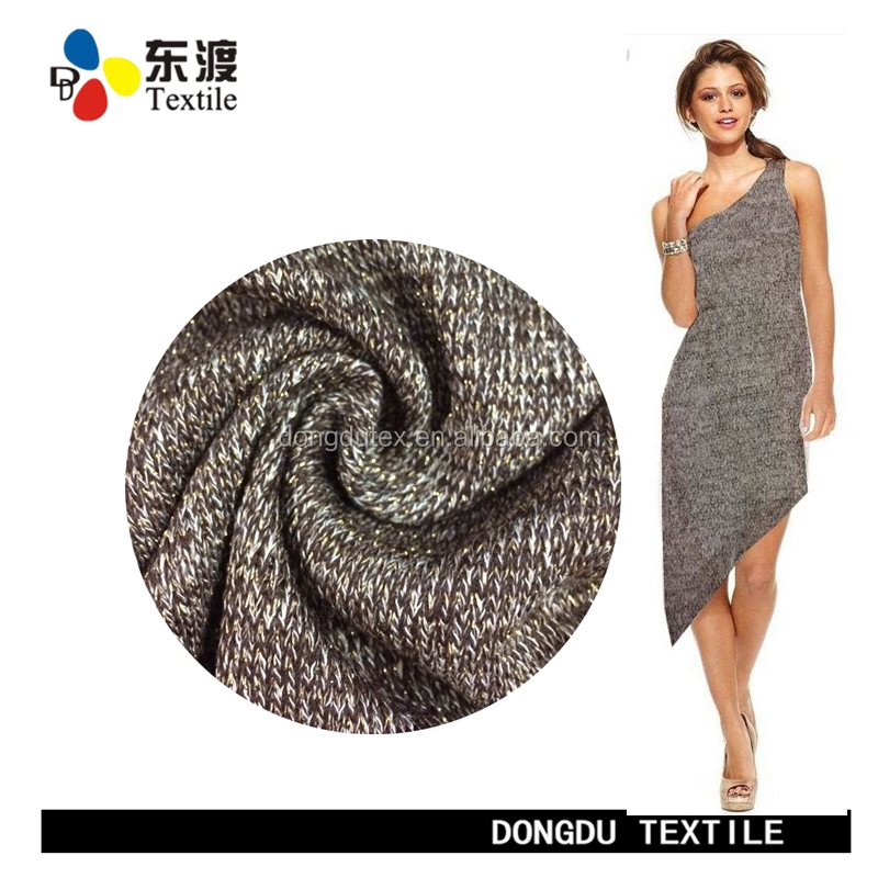 DD-7K022 38 Polyester 52 Viscose 10 Lurex hacci knit fabric