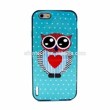 Lovely pattern PC frame soft TPU back phone cover for iphone 6 case