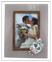 crystal tabletop love glass photo frames 4x6