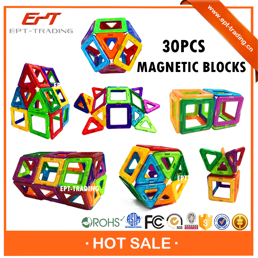 Brand new kids diy toys plastic magnetic building blocks toy for sale