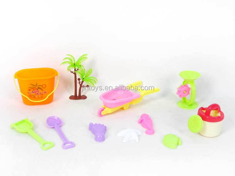 Kids outdoor toy plastic sand game small bucket mini sand beach toys