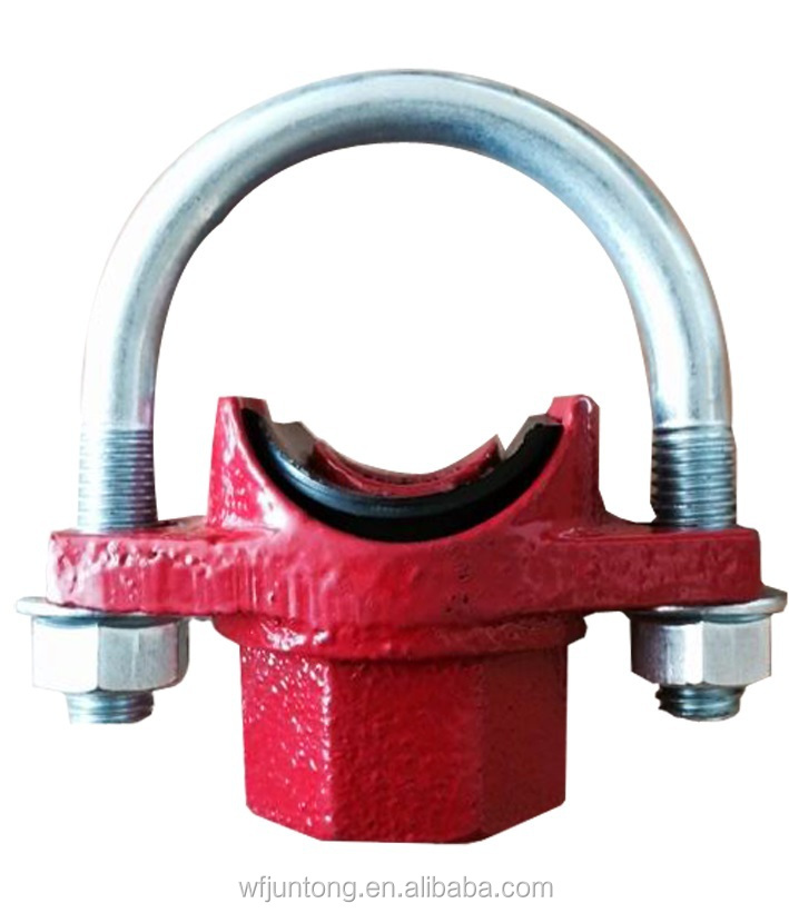 Ul fm approved ductile iron grooved pipe fitting and