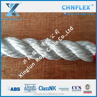 Economical long life towing 3-strand nylon rope