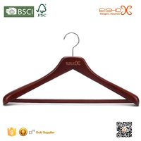 Eisho Slap-Up Anti-Slip Customized Wooden Suits Hanger