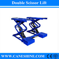 CE&ISO High Quality Cheap Price of Caneshine Brand Car Lift Hydraulic Double Scissor Car Lift Price for Car Maintenance S611