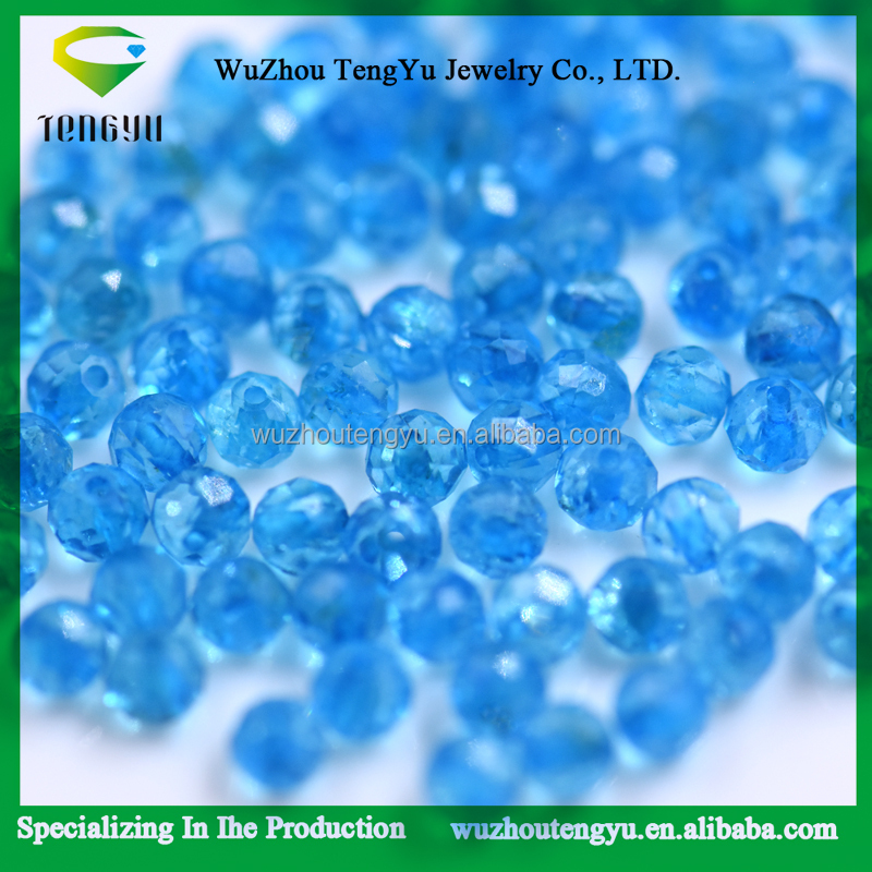 Topaz Natural blue loose beads 2.1mm round faceted beads blue topaz