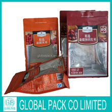 customized logo plastics stand up zipper bag red dates packaging bag