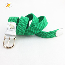 Synthetic Silk Braided Elastic Stretch Belts With Custom Logo