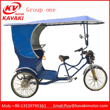 China Factory Pedicab For Passenger/ Fashionable Pedal Rickshaw/35 Speeds Cargo Tricycle Manufacture