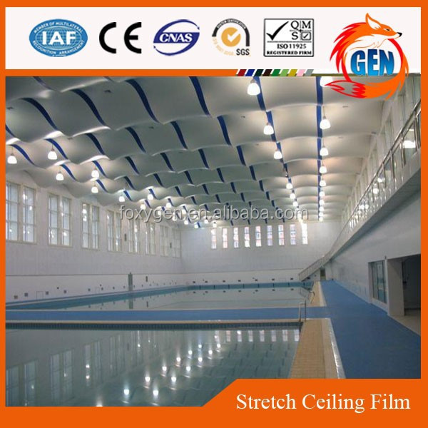 Project protective flexible false curved ceiling design with 15-year warranty for swimming pools