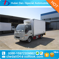 Hot sale JAC 4*2 2.7m Pure electric refrigerated van truck