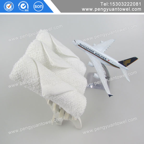 Disposable airline towel with company logo
