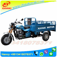 Strong Power Cargo 3 Wheel Trike Chopper Guangzhou Factory Exported Cheap Chinese Motorcycles
