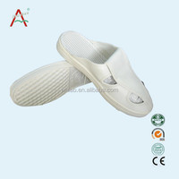 White Nice Shape PU Sole Leather Upper Doctor Anti Static Shoes ESD Slippers