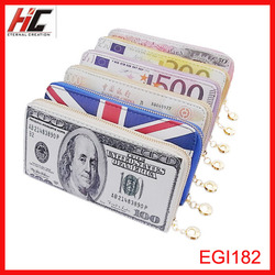 2015 online hot sale fashion pu dollar wallet new model creative Currency pattern case for phone
